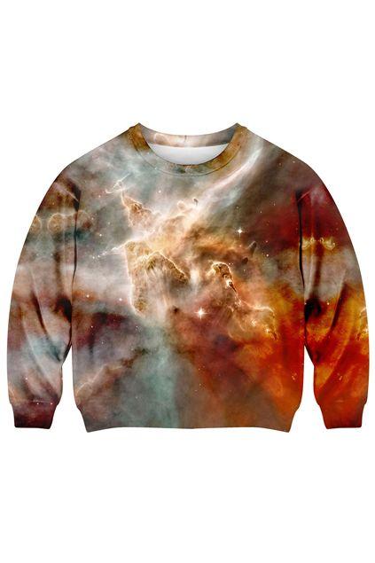 Cloud in Galaxy Print Sweatshirt - The Latest Street Fashion 2014