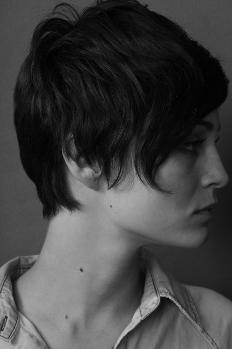 Cool Casual Short Brunette Hairstyle