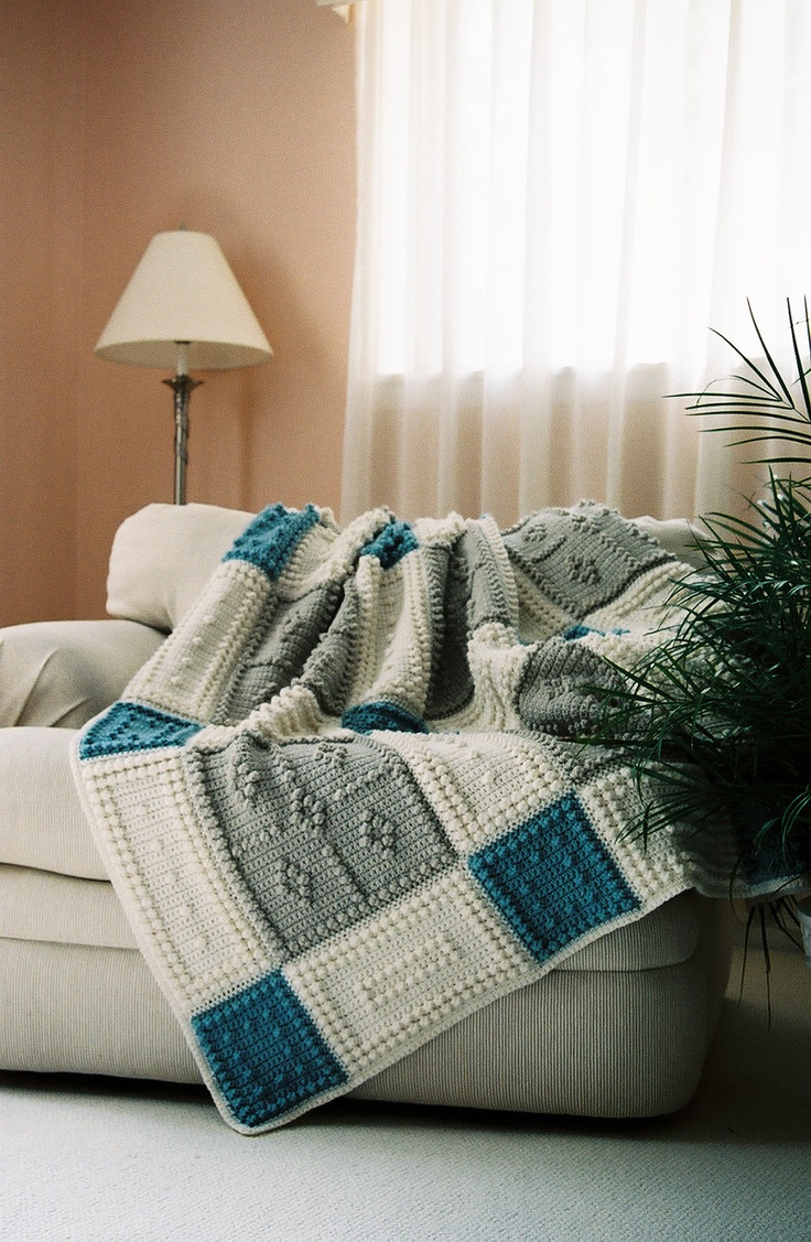 Country Pattern Design for Crocheted Blanket