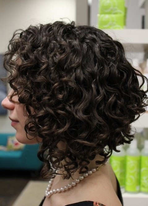 Curly Hairstyles 2014: Side View of Sexy Short Curly Hair Style