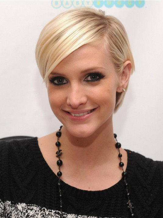 Cute Short Blonde Pixie Cut with Side Bangs: 2014 Short Hair Trends