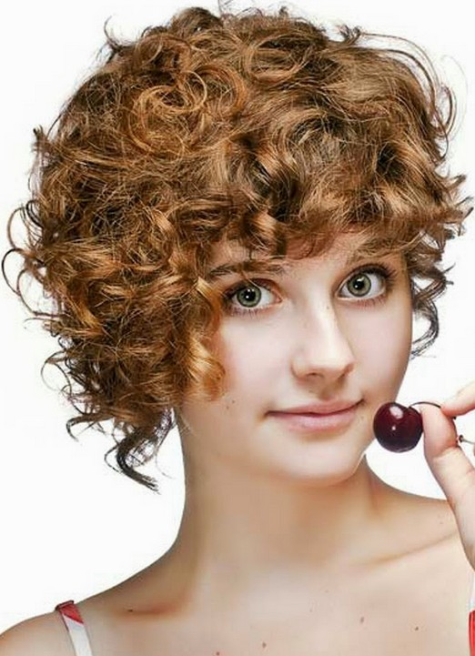 Cute Short Curly Hairstyle for Girls: Girls Hairstyles 2014