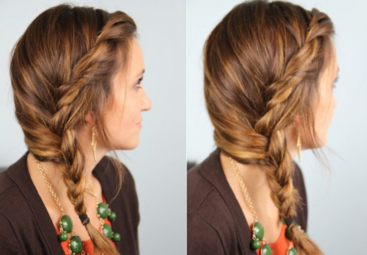 Awesome Cute Side Braided Hairstyle For Girls Easy Loose Braid For Long Short Hairstyles Gunalazisus