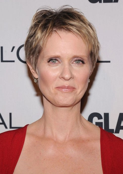 Cynthia Nixon Short Pixie Cut for Older Women