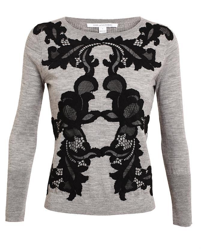 DIANE VON FURSTENBERG - Shara Lace and Wool Sweater