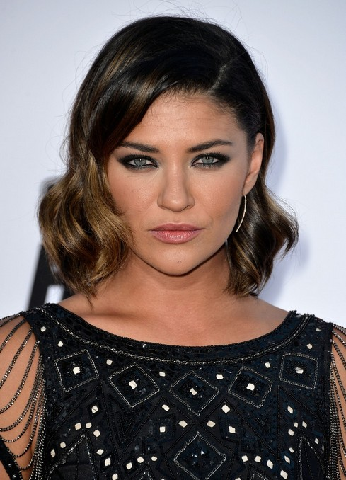 Dark Brown Hair: Wavy Hairstyle for Heart Face Shape