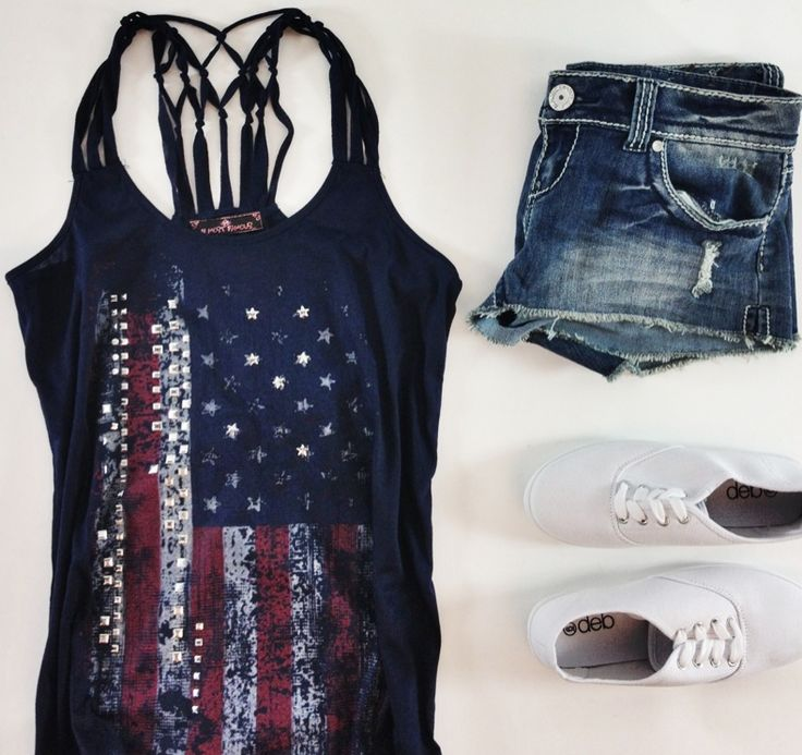 American Flag Print Clothing Styles