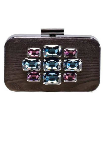 Devi Kroell Embellished Wood Clutch, $2,490