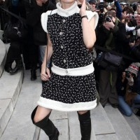 Diane Kruger: Thick Shift Sweater Dress by Channel