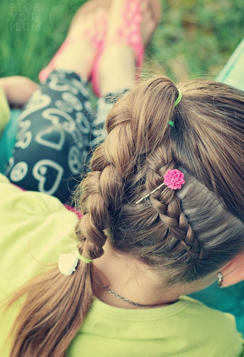 easy braids for school-#10