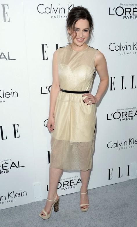 Emilia Clarke in Her Sandals