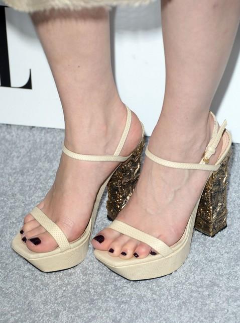 Emilia Clarke's Platform Sandals
