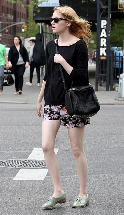 Emma Stone Flat Oxfords