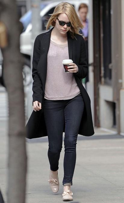 Emma Stone's Flat Oxfords