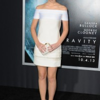 Emma Watson: Little White Off-the-shoulder Dress by J. Mendel