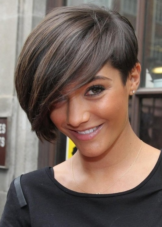 Emo Hairstyle 2014: Chic Short Hairstyle with Bangs for Thick Hair