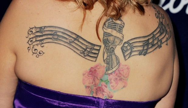 Erika Van Pelt's Tattoos - Artistic Design Tattoo on Back