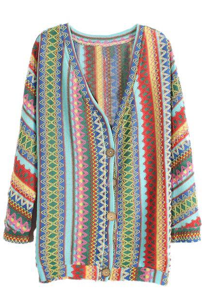 Ethnic Style Batwing Sleeves Cardigan - The Latest Street Fashion 2014