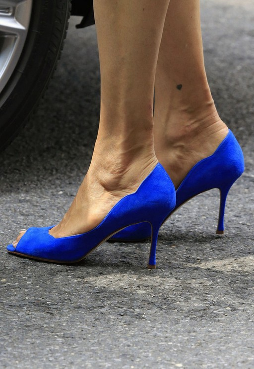 Famke Janssen's Peep Toe Pumps