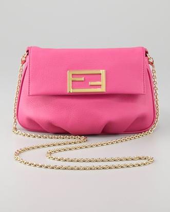 Fendi Fendista Pouchette Crossbody Bag, Fuchsia