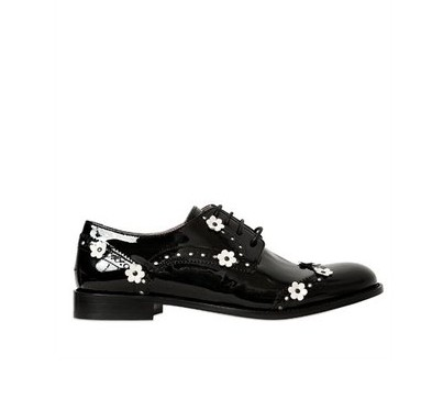 Flowers Appliqué Oxford Shoes