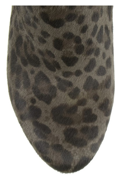Front View of Jimmy Choo Lane leopard-print calf hair ankle boots