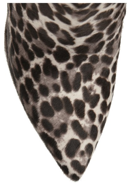 Front View of Tabitha Simmons Hunter leopard-print calf hair and suede ankle boots