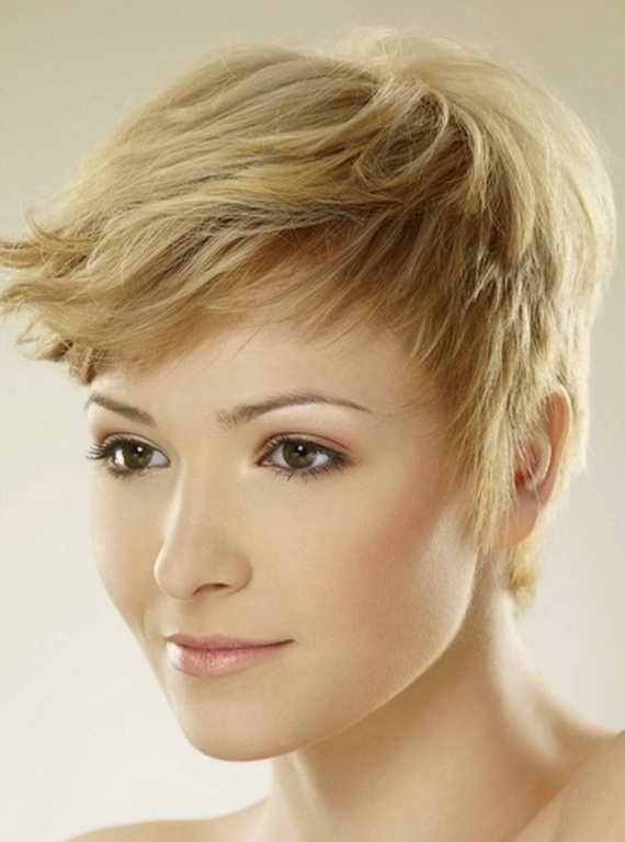 Funky Short Blond Hairstyle