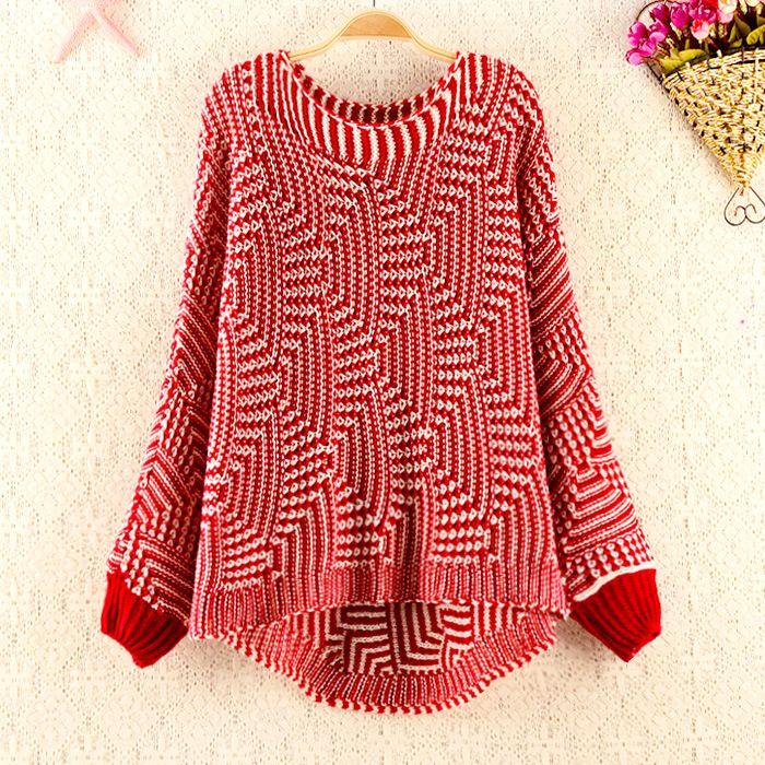 Geometric Pattern Sweater for Women 2014