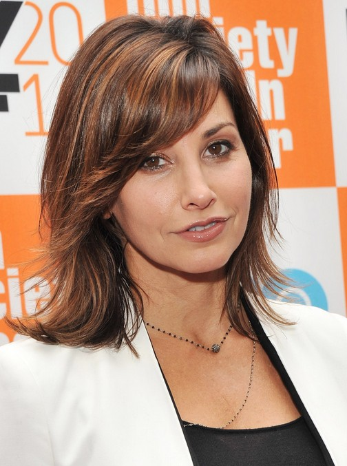 Gina Gershon Haircut: Best Medium Length Hairstyle for Thick Hair 2014