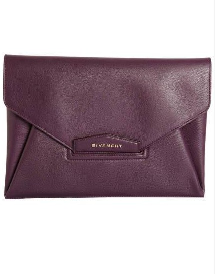 Givenchy Antigona Leather Envelope Clutch, $1,240