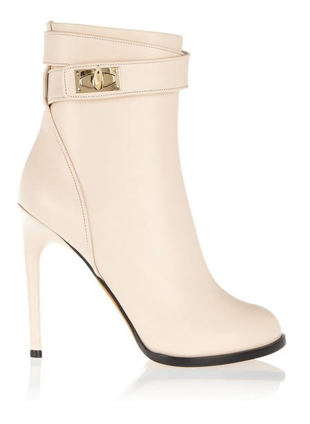 Givenchy Shark Lock ankle boots in pale blush leather