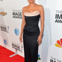 Halle Berry: Black Corset Dress by Vivienne Westwood