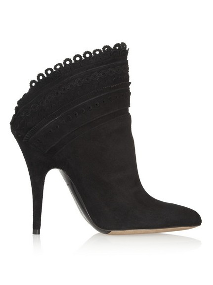 Harmony scalloped suede ankle boots