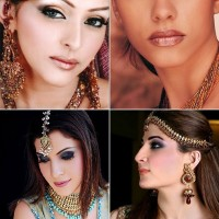 Indian makeups with heavy glitters