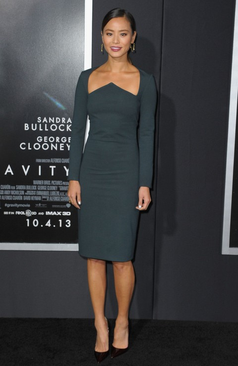 Jamie Chung: Teal Cushnie et Ochs Cocktail Dress