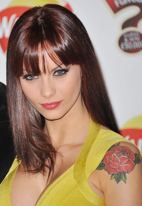 Jessica-Jane Clement's Tattoos - Flower Tattoo on Upper Arm