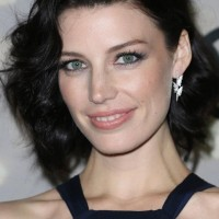Jessica Pare Short Curly Hairstyle: Bright