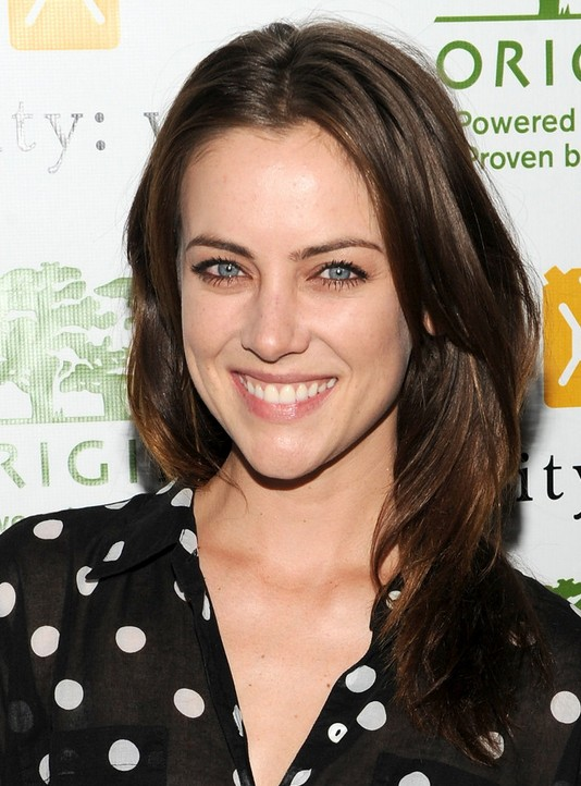 Jessica Stroup Haircut: Celebrity Medium Length Hairstyle with Highlights