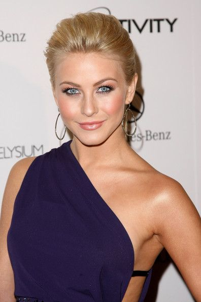 Julianne Hough Hairstyle - Swept Back Hair