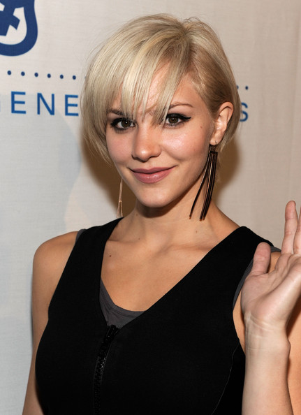Katharine McPhee Short: Edge Layered Bob with Long Wispy Bangs