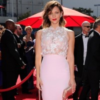 Katharine McPhee: Pink Georges Hobeika Evening Dress