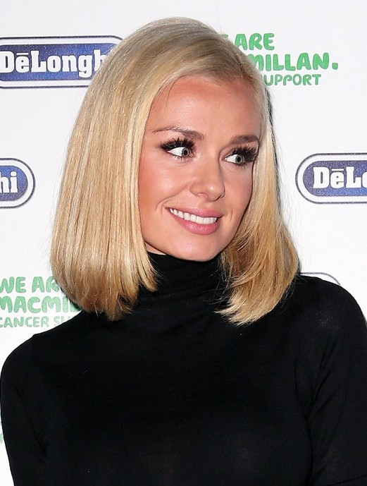 Katherine Jenkins Hairstyle for women: the Medium Length Blonde Bob Hair