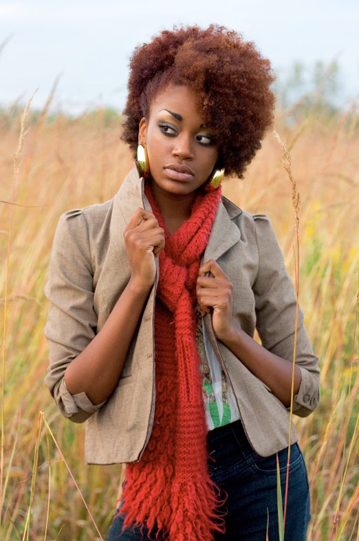 Kinky natural hairstyles