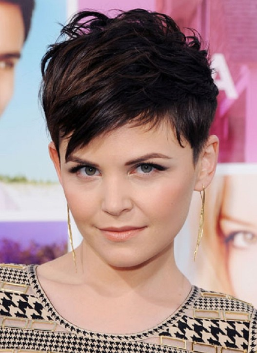 Layered Short Razor Cut with Side Bangs