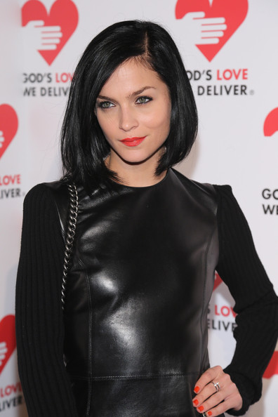 Leigh Lezark Short Hairstyle: Simple Side-parted Raven Bob for 2014