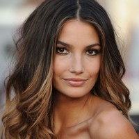 Long Ombre Hair 2014 - Sexy Center Parting Long Wavy Hairstyle for Women