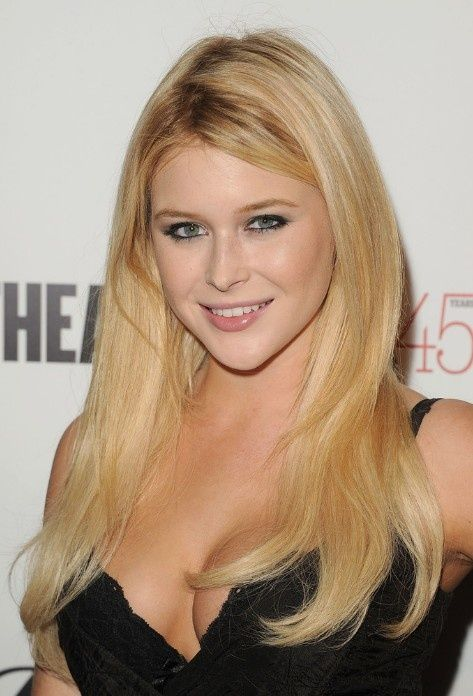 Side Parted Long Blond Hairstyle