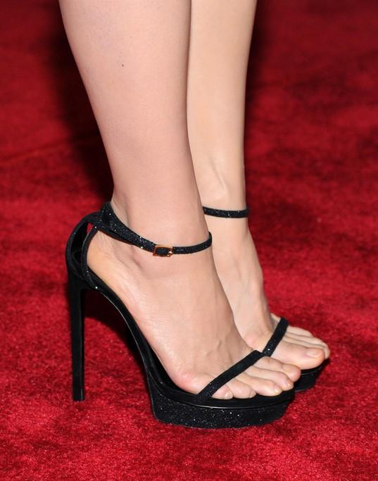 Lucy Liu's Platform Sandals