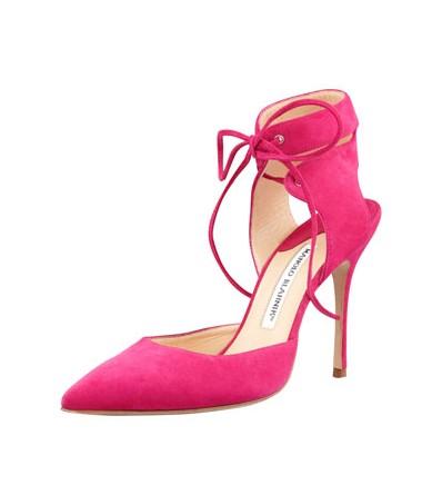 Manolo Blahnik Lara Anker Wrap Pointy shoes
